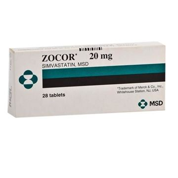 Picture of Zocor 20mg Tablets