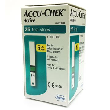 Picture of Accu-Chek Active Glucose Strips 25's