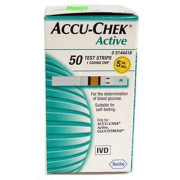 Picture of Accu-Chek Active Glucose Strips 50's