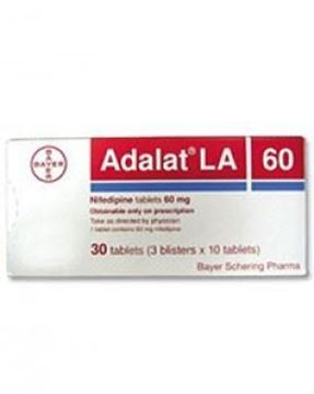 Picture of Adalat LA 60mg Tablets