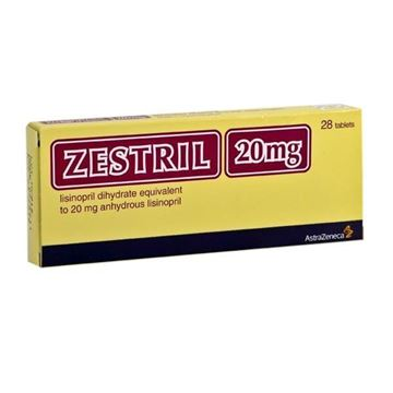 Picture of Zestril 20mg 28tabs