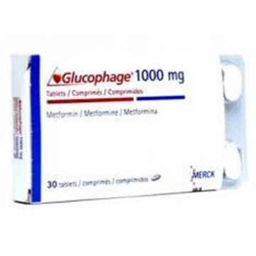 Picture of Glucophage 1000mg 30Tabs