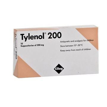 Picture of Tylenol Suppositories 200mg