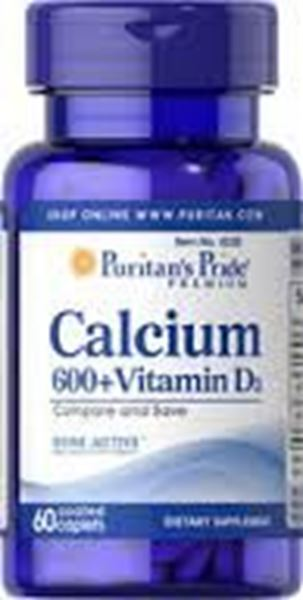 Picture of Puritan's Pride Ca 600 + Vit D