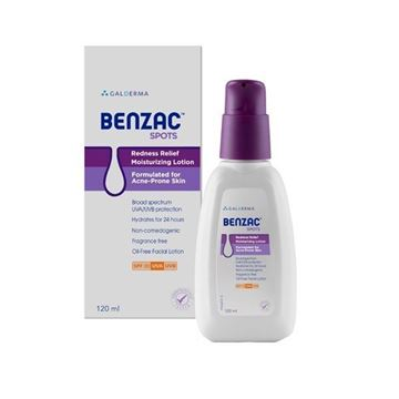 Picture of Benzac Spots Redness Moisturising Lotion  Relief 120 ml