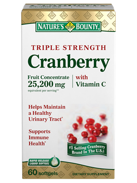 Picture of Natures Bounty Cranberry 60 softgel