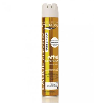 Picture of Byphasse Hair Spray Shine Effect Strong Hold 400ml