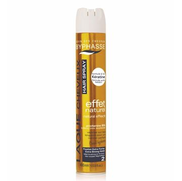Picture of Byphasse Hair Spray Natural Effect Extra Strong Hold 400ml