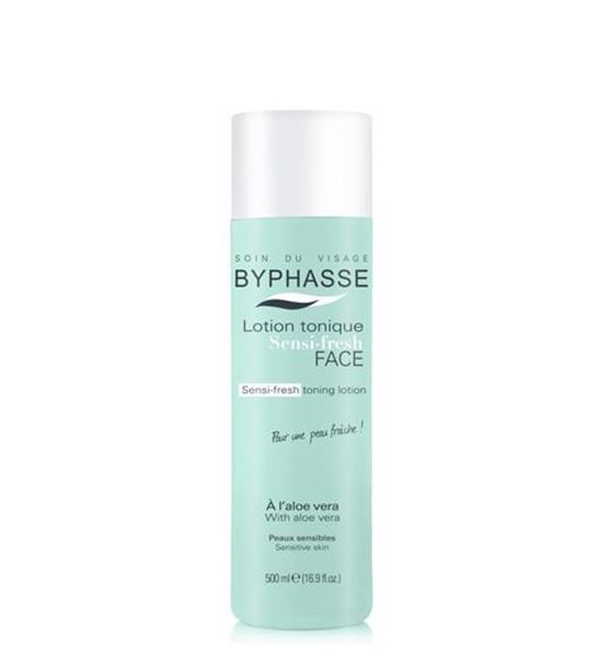 Picture of Byphasse Sensi-Fresh Toning Lotion With Aloe Vera  500ml