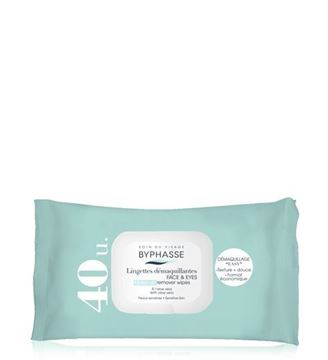Picture of Byphasse Make-up Remover Wipes Aloe Vera 40wipes.