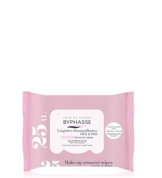 Picture of Byphasse Make-up Remover Wipes Milk Proteins 25wipes.