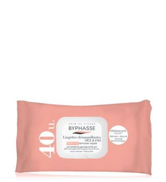 Picture of Byphasse Make-up Remover Wipes Green Tea 40wipes