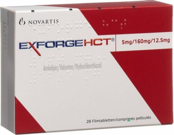 Picture of Exforge Hct 5mg/160mg/12.5mg 28 Tablets