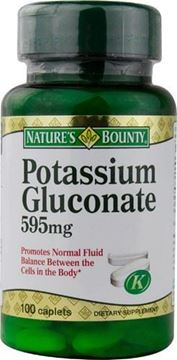 Picture of Nature's Bounty Potassium Gluconate 595mg