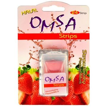 Picture of Omsa Strips Strawberry Peppermint Flavour
