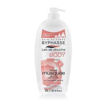 Picture of Byphasse Caresse Shower Cream Rosehip 2L