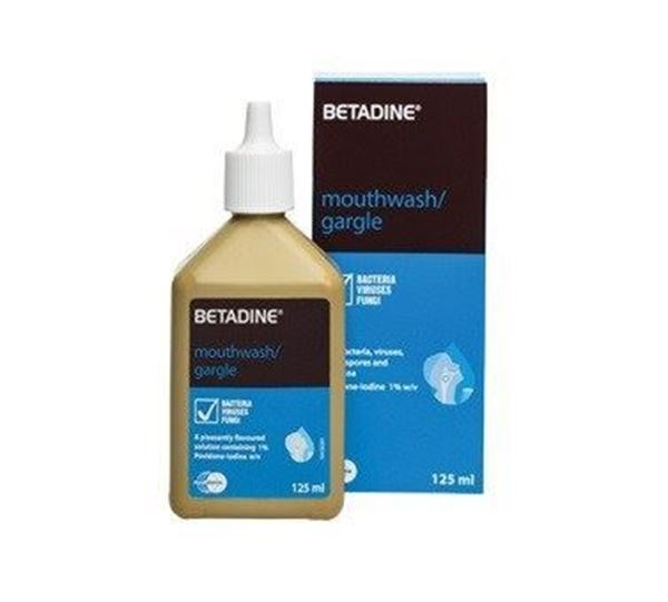 Picture of Betadine Gargle Mouth Wash 125 ml