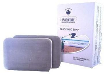 Picture of Naturaliz Dead Sea Black Mud Soap 100 gm