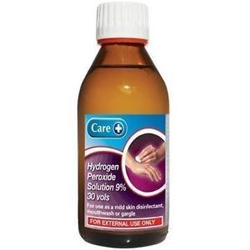 Picture of Care Hydrogen Peroxide Solution 9%