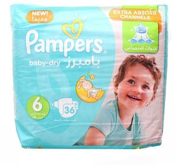 Picture of Pampers NO 6 36 Pcs