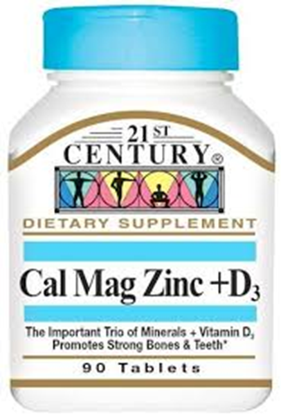 Picture of 21st Century Cal Mag Zinc +D 90 Tablets