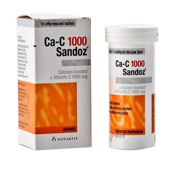 Picture of Ca-c 1000 Sandoz Effervescent Tablets 10 Tablets