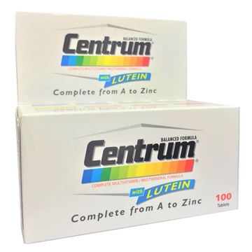 Picture of Centrum With Lutein 100 Tabs
