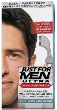 Picture of Just For Men Ultra The Gentle Haircolor Black Dark Brown