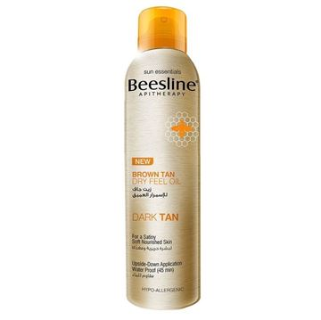 Picture of Beesline Brown Tan Dry Feel Oil Dark Tan 150ml