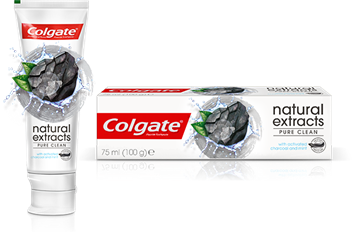 Picture of COLGATE NATURAL EXTRACTS CHAECOAL TOOTHPASTE 75ML