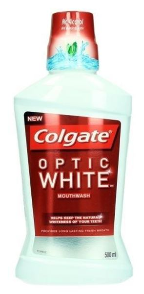 Picture of COLGATE OPTIC WHITE MOUTH WASH 500ML
