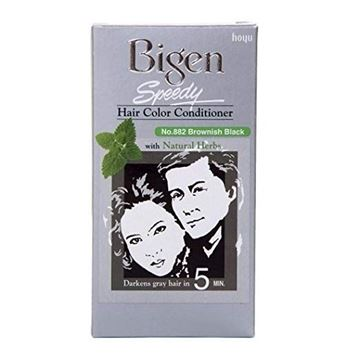 Picture of BIGEN HAIR COLOR CONDITIONER NO.882 BROWNISH BLACK