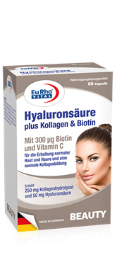 Picture of Eurho Vital Hyaloronic+Collagen+Biotin 60 Capsules