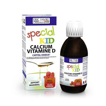 Picture of SPECIAL KID CALCIUM & VITAMIN-D STRAWBERRY FLAVOUR 125ML