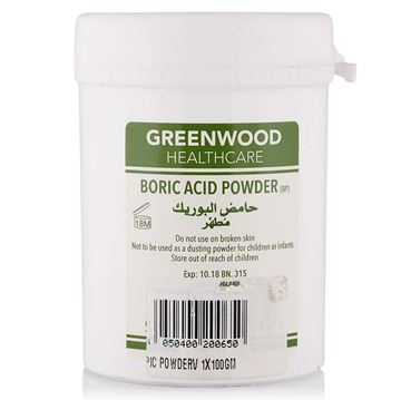 Picture of GREEN WOOD BORIC ACID 100G
