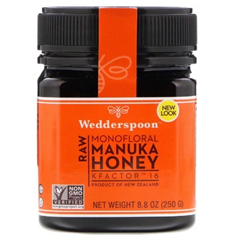Picture of Wedderspoon Raw Monofloral Manuka Honey KFactor 16+ 250g