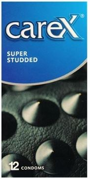 Picture of CAREX SUPER STUDDED CONDOM 12PC