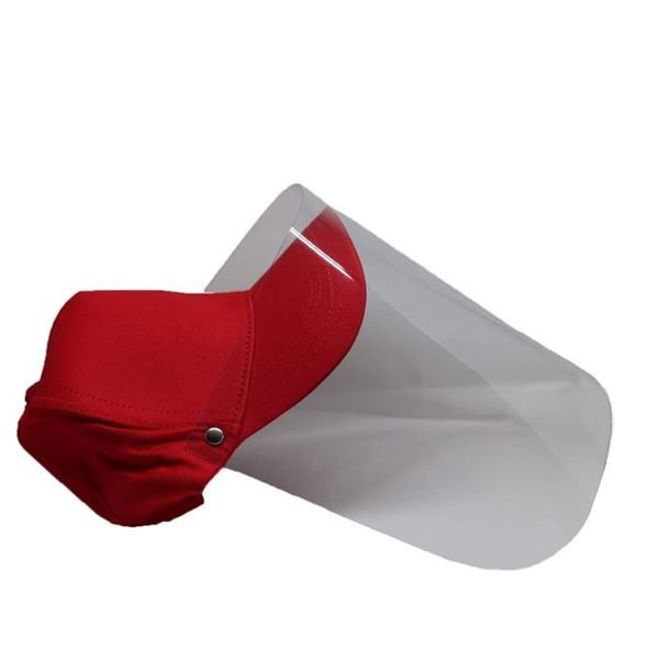 Picture of Cap Face Shield Red