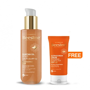 Picture of Beesline Suntan Oil Gold 200 ml + Ultrascreen Cream SPF50 30 ml Free