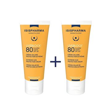 Picture of ISIS UVEBLOCK OFFER-INVISIBLE CREAM SPF80+(1+1)