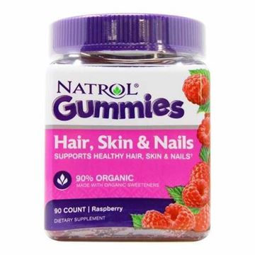 Picture of Natrol Hair, Skin And Nails 90Gummies Rasberry