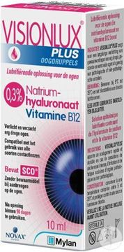 Picture of Visionlux Sodium Hyaluronate Eye Drops 10ml