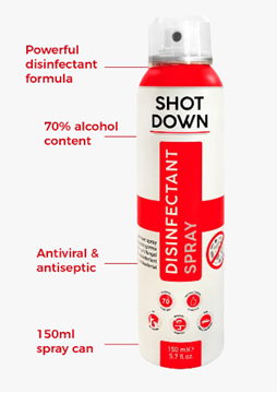 Picture of Shot Down Disinfectant Spray 150ML