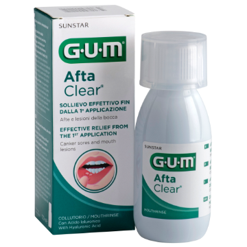 Picture of GUM AFTA CLEAR MOUTH RINSE 120ML