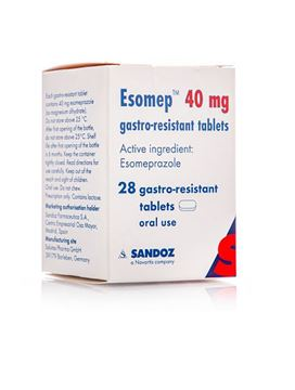 Picture of Esomep 40Mg 28 Tablets