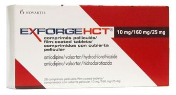 Picture of Exforge HCT 10mg/160mg/25mg 28Tab