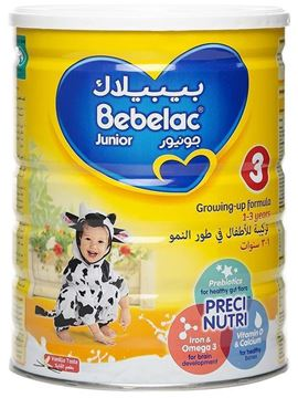 Picture of BEBELAC GROWING UP MILK JUNIOR STAGE 3 900 G (FROM 1-3 YEARS)