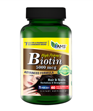 Picture of AMS Biotin 5000MCG 60Tablet