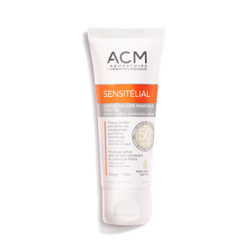 Picture of ACM Sensitelial Mineral Sunscreen Cream SPF 50+ Light Tint 40ml
