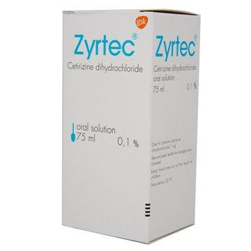 Picture of Zyrtec Oral Solution 1 mg/ml
